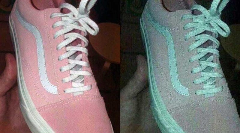 Tênis rosa ou verde